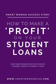 This is Giovinas story about how to make a profit on your student loans and how she managed to pay off almost in student loan debt in just under a year Smart Woman Student Loan Payment, Paying Off Student Loans, School Loans, Loan Money, Loan Forgiveness, Thing 1, Smart Women, Payday Loans, Inevitable
