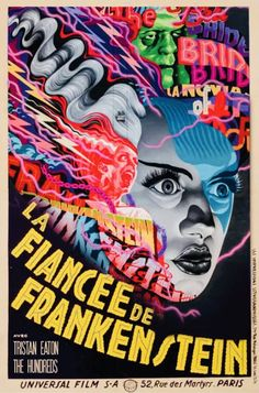 Horror Movie Posters, Film Posters, Horror Movies, Horror Film, Vintage Horror, Paris, Frankenstein, Paranormal, Home Art
