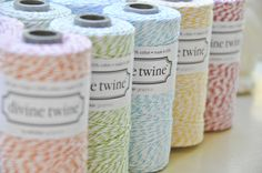 divine twine, for wrapping packages and gifts