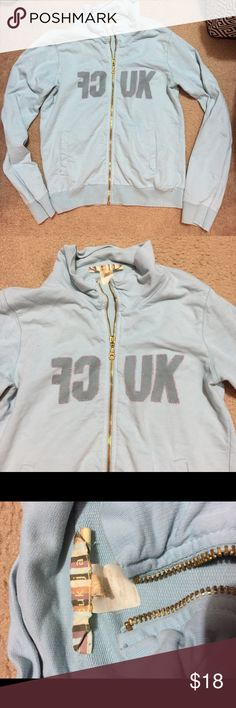 French Connection zip up Baby blue zip up only used a few times 🌟 French Connection Tops Sweatshirts & Hoodies