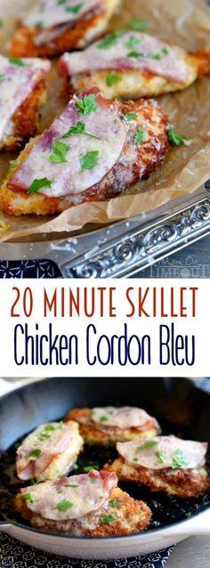 Pollo cordon blue   7 Cenas fáciles para probar esta semana