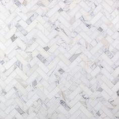 Calacatta Herringbone Marble Tile |TileBar.com