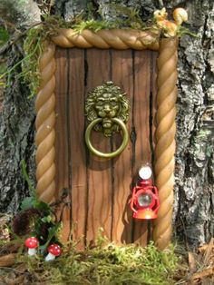 fairy doors for tree trunks | FOREST GNOME WOODLAND FAIRY DOOR by CLOUDFAIRY on Etsy