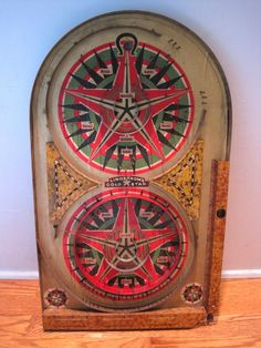 Old Vintage Antique 1934 Lindstrom Tool Toy Co Gold Star Pinball Marble Game | eBay