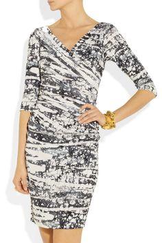 Diane von Furstenberg|Bentley ruched silk-jersey dress|NET-A-PORTER.COM