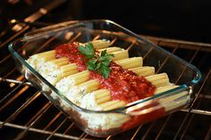 Three Cheese Manicotti - a classic and family favorite for 8 years.