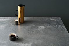 Caesarstone Engineered Quartz - The Concrete Series - Sustainable Kitchens Caesarstone Concrete, Concrete Countertops, Countertop Materials, Shaker Kitchen, Kitchen And Bath, Kitchen Design Trends 2018, Kitchen Trends, Kitchen Ideas, Poured Concrete