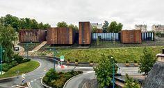 Corten Blocks, large gestures  RCR Arquitectes - Musée Soulages, Rodez 2014. Photos (C) Kevin Dolmaire, Pep Sau.   ~via SUBTILITAS.tumblr.com