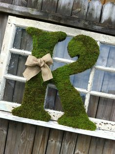 Hey, I found this really awesome Etsy listing at http://www.etsy.com/listing/162231367/large-moss-covered-letter-k-rustic