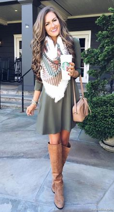 25 Best Stunning Outfits Ideas To Wear Now - Tout Sur La Mode Féminine Spring Outfits Women, Casual Fall Outfits, Cute Outfits, Work Outfits, Winter Outfits, Summer Outfits, Autumn Casual, Pull Gris, Dress With Boots