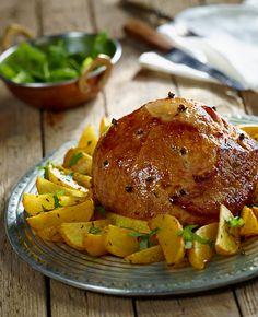 Glazurowana szynka z ziemniakami #lidl #przepis #szynka #ziemniaki