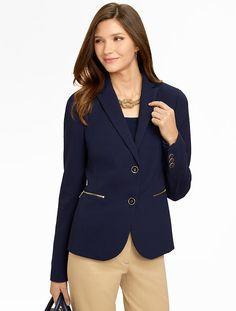 Talbots - Zip-Pocket Jacket | Work Shop |