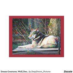 Dream Creatures, Wolf, DeepDream Canvas Print