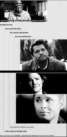 Just because you're hurt doesn't mean your broken  Cas Sam and Dean