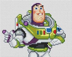 Disney Toy Story Buzz Lightyear Counted Cross Stitch Pattern in PDF for Instant Download