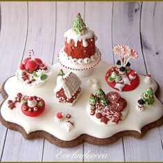 Food Miniatures on cookie ❤️ ❄️MERRY CHRISTMAS