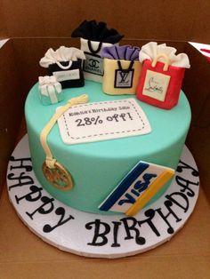 Shopping Cake #shopping #shopaholic #cake https://www.facebook.com/MissConfectionality