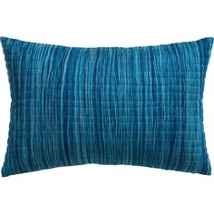"hombre blue 18""x12"" pillow with feather-down insert  