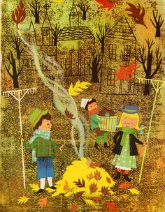 A Child's Garden of Verses by Robert Louis Stevenson, illustrated by Alice and Martin Provensen.  A Big Golden Book.  Simon & Schuster, 1951.