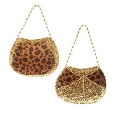 """RAZ Animal Print Purse Christmas Decoration Set of 2        2 Assorted styles, set includes one of each style      Made of Polyfoam      Measures 8"""" X 5"""", 7"""" X 5""""    Animal print purse ornament with gold glitter details.    RAZ Christmas Catwalk Collection    Arriving Summer 2013 - www.trendytree.com"""