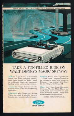NY World's Fair Walt Disney's Ford MagicSkyway 1964-65.