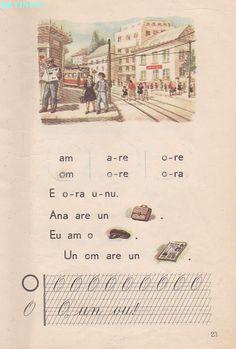 Abecedar 1959 – Un zâmbet de copil… Vintage School, France, Kids Education, Book Illustration, Nostalgia, Photo Wall, Memories, Activities, Learning