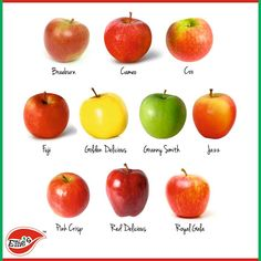 Food Fact: There are thousands of different varieties of apples including Fuji, Gala, Red Delicious, Golden Delicious, Pink Lady and Granny Smith.