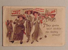 Women's Suffrage vote postcard campaign political