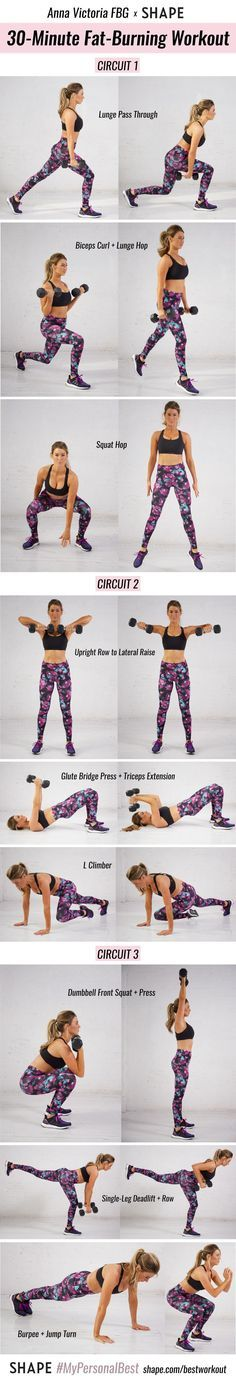 This 30-minute total-body circuit is designed to help you reach your #PersonalBest, whether it's to sculpt a toned body or boost your energy and kick ass ~ outside ~ of the gym.