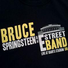 "Vintage Hi Love New York Bruce Springsteen ""Magic Tour"" Giants Stadium Tee"