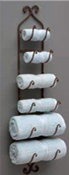 Amazon.com - IMAX Towel/Wine Rack, Brown -