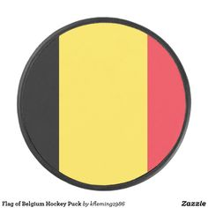 Shop Flag of Belgium Hockey Puck created by Personalize it with photos & text or purchase as is! Hockey Gear, Hockey Puck, Belgium, Flag, Flags