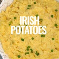 Irish Potatoes - A hearty side dish made with creamy mashed potatoes, garlic and cabbage. Serve for St. Patrick's Day or anytime of year! Irish Brown Bread, Irish Potatoes, Creamy Mashed Potatoes, Easy Casserole Recipes, Irish Recipes, Potato Dishes, Dessert Drinks, My Favorite Food, Meal Planning