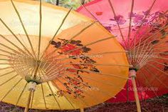 paper parasols / sans the bright colors