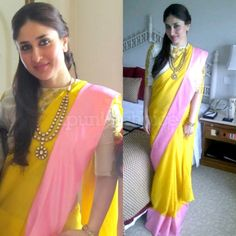 Kareena in Masaba Gupta saree...like necklace