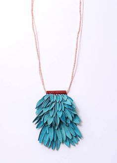 Leather and bead necklace by Hyorim Lee.