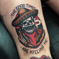 Old, old tattoos, viking tattoos, badass tattoos, tattoos for guys Cowboy Tattoos, Biker Tattoos, Skull Tattoos, New Tattoos, Sleeve Tattoos, Tattoos For Guys, Pin Up Tattoos, Badass Tattoos, Old School Tattoo Designs