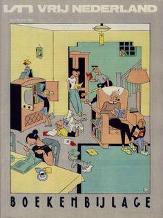 cover by Evermeulen book supplement Dutch newspaper Vrij Nederland, 1984