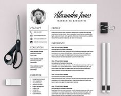 Resume Template Marketing Resume Template Word Creative  From