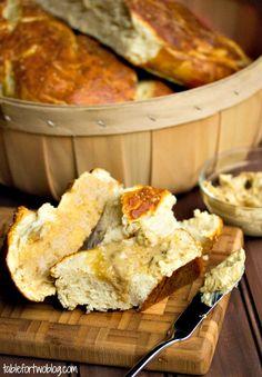 Pretzel Baguette with Mustard Butter