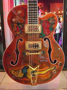 2009 NAMM Show - Gretsch custom guitar by Mark Dalzell Fender Custom Shop, Custom Electric Guitars, Custom Guitars, Guitar Shop, Cool Guitar, Guitar Rack, Gretsch, Guitar Design, Eric Clapton
