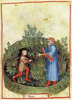 Illustración del Tacuinum Sanitatis. De unknown master - book scan, Dominio público, https://commons.wikimedia.org/w/index.php?curid=5023962