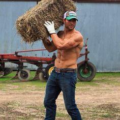 Joshua Gawrysiak a sexy baller. God, I love cowboys. Especially shirtless and muscular ones. Hot Country Men, Cute Country Boys, Cute Boys, Hot Cowboys, Real Cowboys, Rodeo Cowboys, Farm Boys, Cowboy Up, Cowboy Outfit For Men