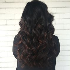 Subtle Balayage over naturally dark hair ❣