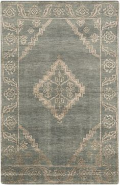 Surya BGR-6000 Bagras Hand Knotted Bamboo Rug Green
