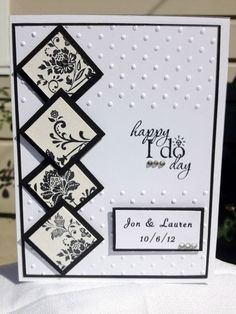 Black and White Personalized Wedding Handmade Card RESERVED FOR SHARI on Wanelo