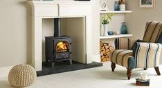 Highly efficient and highly versatile, the Stockton 5 is both a wood burning and multi fuel stove, providing premium finishes including external riddling and a heat shield. Mantel Surround, Fire Surround, Wood Burning Logs, Wood Burner Fireplace, Freestanding Fireplace, Freestanding Stoves, Multi Fuel Stove, Victorian Fireplace, Front Rooms
