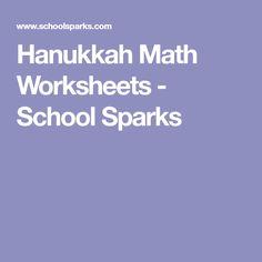 Hanukkah Math Worksheets - School Sparks