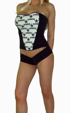 NFL Dallas Cowboys Sexy Lingerie Corset  3 Sizes by SexyCrushes, $49.50