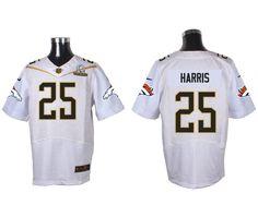 repjerseys.ru Denver Broncos #25 Chris Harris Jr White 2016 Pro Bowl Nike Elite Jersey
